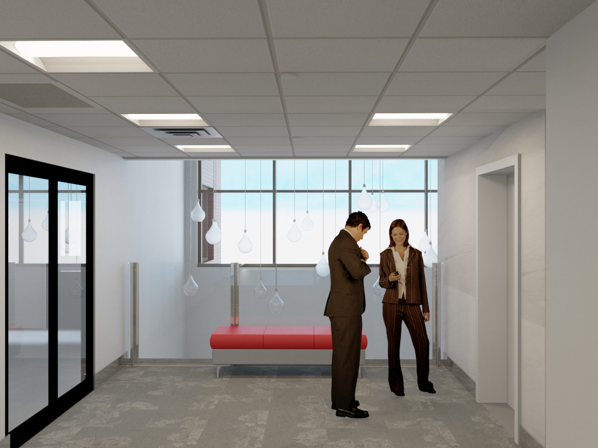 upper elevator lobby