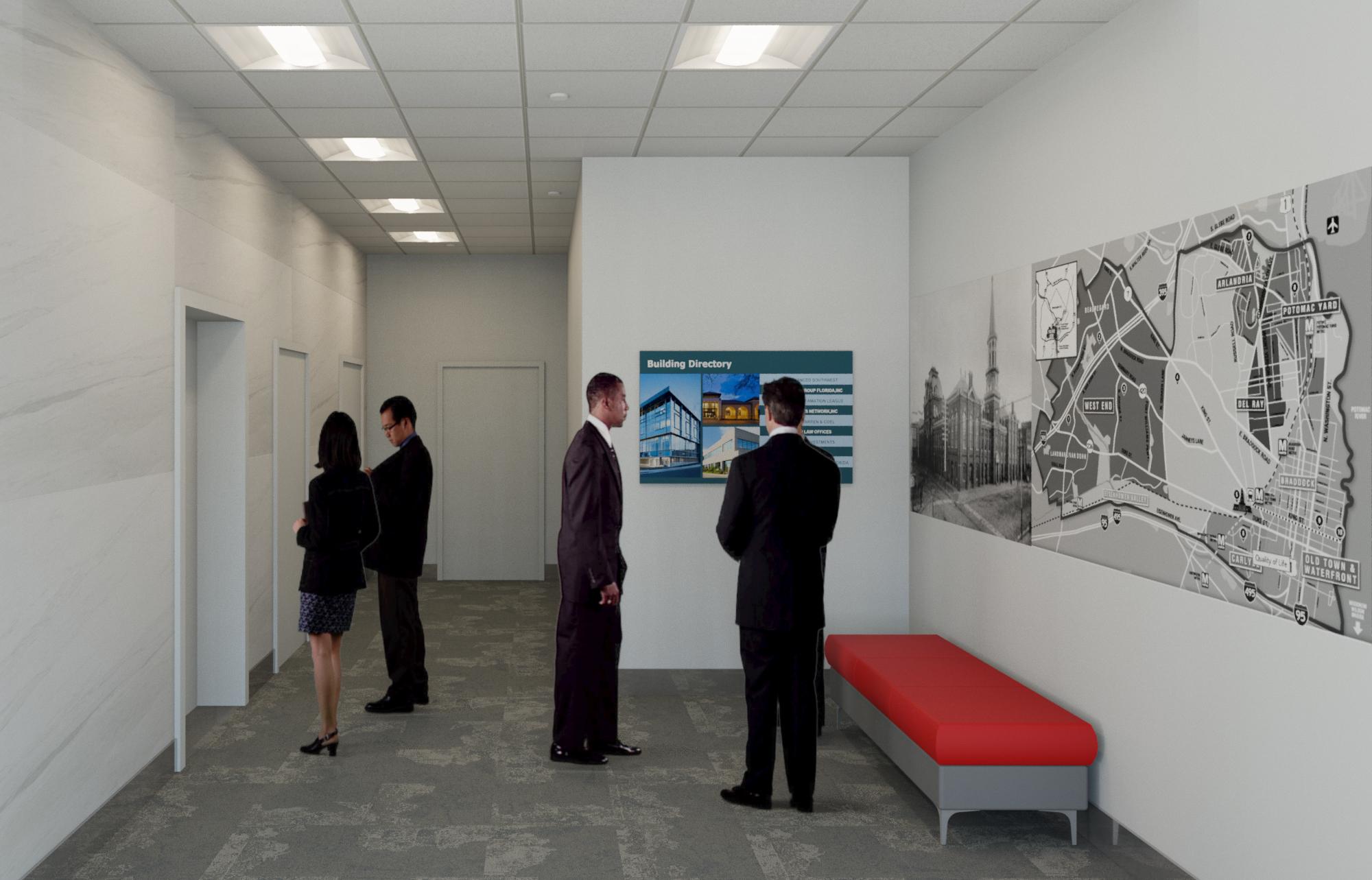 lower elevator lobby