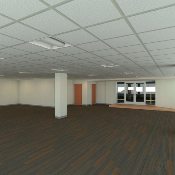 Interior after rendering