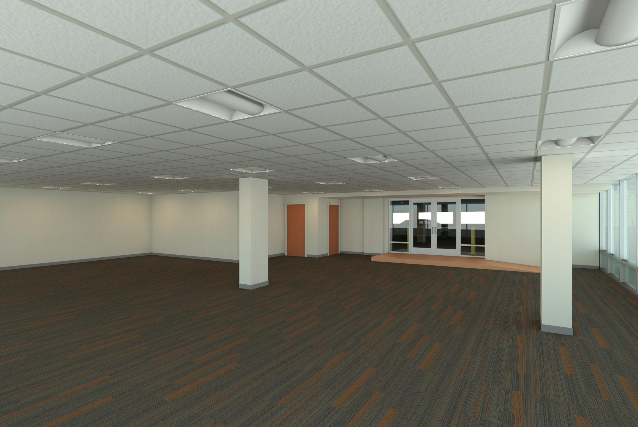 Interior after rendering